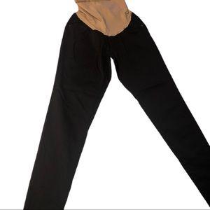 Led Luxe Essentials Denim Black Maternity Pants